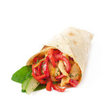 Pita. Stuffed with chicken and peppers royalty free stock photo