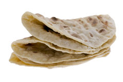 Pita on white macro Royalty Free Stock Images