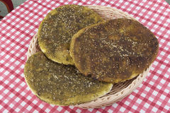 Pita with Zaatar Stock Photo