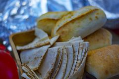 Pitabroodje - Mediterrane keuken royalty-vrije stock foto