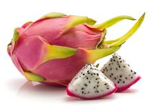 Pitahaya dragonfruit, geïsoleerde pitaya royalty-vrije stock afbeeldingen
