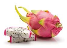Pitahaya dragonfruit, pitaya odizolowywający Obraz Royalty Free