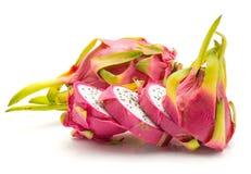 Pitahaya dragonfruit, pitaya odizolowywający Zdjęcia Royalty Free