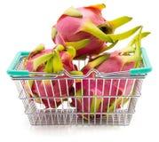 Pitahaya dragonfruit, pitaya odizolowywający Fotografia Royalty Free