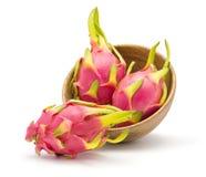 Pitahaya dragonfruit, pitaya odizolowywający Zdjęcia Stock