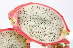 Pitahaya fruit 1. Asian exotic pitahaya(red-dragon) fruit on white background Royalty Free Stock Image