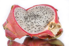 Pitahaya fruit 2. Asian exotic pitahaya(red-dragon) fruit on white background Stock Images