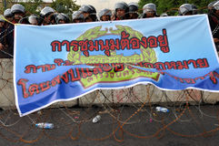 Pitak Siam Anti-Government Rally in Bangkok, Thailand. Police blocked demonstrators from accessing some streets near government buildings.The rally was holded by Stock Photos