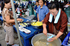 Pitak Siam Anti-Government Rally in Bangkok, Thailand. Prepared food for the people,who joined the rally.The rally was holded by Pitak Siam on Nov 24 at the Stock Photography