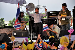 Pitak Siam Anti-Government Rally in Bangkok, Thailand Stock Photo