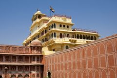 Pitam Niwas Chowk in City Palace in Jaipur, India Stock Photography