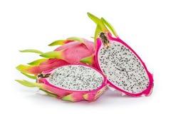 Pitaya或龙果子被隔绝反对白色背景 库存图片