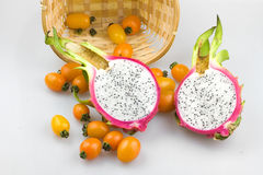 Pitaya. Dragon fruit can promote health, beauty, disease prevention and physical effects Royalty Free Stock Photos
