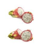 Pitaya de fruit du dragon découpé en tranches Images stock