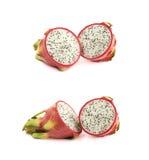 Pitaya de fruit du dragon découpé en tranches Image stock