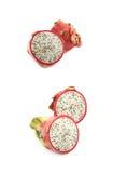 Pitaya de fruit du dragon découpé en tranches Photo stock