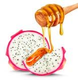 Pitaya en honing Stock Foto