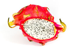 Pitaya, fresh dragon fruit isolated on white backg Royalty Free Stock Images