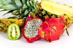 Free Pitaya, Fresh Dragon Fruit,kiwi,Pineapple, Isolate Stock Photos - 17799583