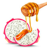 Pitaya and honey Stock Photo