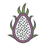 Pitaya line icon, dragon fruit and tropical. Vector graphics, a colorful linear pattern on a white background, eps 10 Royalty Free Stock Photos