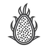 Pitaya line icon, dragon fruit and tropical. Vector graphics, a linear pattern on a white background, eps 10 Stock Photography