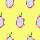 Pitaya, Pitahaya/ Smoka owocowy bezszwowy wzór jest może projektant wektor evgeniy grafika niezależny kotelevskiy przedmiota oryg royalty ilustracja