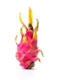 Pitaya, whole dragon fruit isolated on white Stock Images