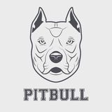 Pitbull head mascot. Pitbull mascot head. Symbol of dog. Vector illustration  on white background Stock Photos