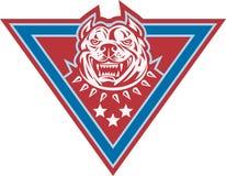Pitbull Mongrel Dog Head Retro Royalty Free Stock Image