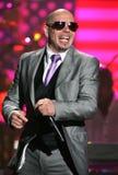Pitbull performs at the SOS Saving Ourselves telethon royalty free stock photo