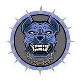 Pitbull stylizował WEKTOROWEGO loga, błękitnego Obrazy Stock