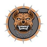 Pitbull stylizował WEKTOROWEGO loga Obraz Stock