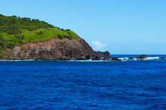 Pitcairn ö i Southet Pacific fotografering för bildbyråer