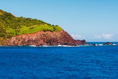 Pitcairn-Insel im South Pacific stockfoto