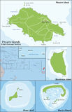 Pitcairn Islands map Royalty Free Stock Photo