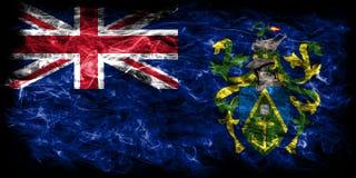 Pitcairn Islands smoke flag, British Overseas Territories, Brita. In dependent territory flag Stock Images