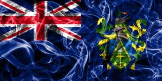 Pitcairn Islands smoke flag, British Overseas Territories, Brita. In dependent territory flag Royalty Free Stock Images