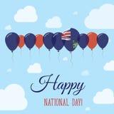 Pitcairn-Nationaltag-flaches patriotisches Plakat vektor abbildung