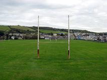 The Pitch. A Rugby Union pitch at Aberaeron in Wales Royalty Free Stock Photography