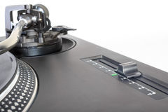 Pitch adjustment knob of a turntable Stock Photo