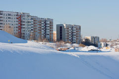 Pitch dwelling-houses on grief, city Perm Stock Image