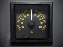 Pitch indicator scale, selective focus, front view Royalty Free Stock Photography