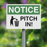 Pitch In Stock Photo