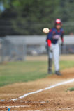 Pitch over home plate Stock Images