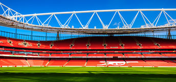 Pitch side, The Emirates Stadium Royalty Free Stock Photography