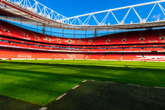 Pitch side, The Emirates Stadium Royalty Free Stock Images