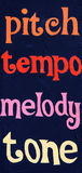 Pitch tempo melody tone Stock Photo