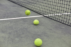 The pitch tennis close-up Royalty Free Stock Photos
