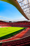 Pitch view, inside The Emirates Stadium Stock Photo